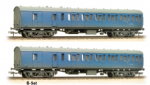 34-63SET Bachmann Branchline Suburban Second Brake Blue Weathered Pair